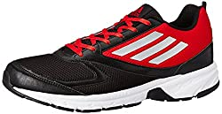 adidas Mens Adimus M Black and Grey Mesh Running Shoes - 8 UK