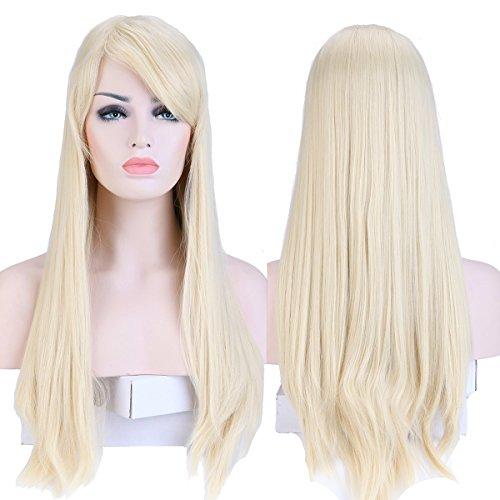 Bleach Kostüm - S-noilite® Wie Echthaar Damen Lang Haar Perücken Mode Glatt Perücke Täglich Cosplay Partei Party Kostüm Wig - Bleach blond