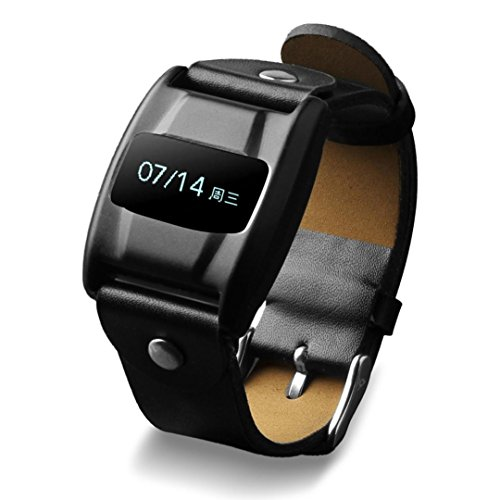 41w6wYIv7UL - NO.1# LUXURY WATCH  Fitness Tracker, iHee 0.68-inch HD PMOLED Lightweight Leather Bluetooth Wrist Bracelet Activity Tracker, Pedometer - Sleep Monitoring - Heart Rate Detection - Blood Oxygen Detection - Anti-Lost Warning - Activity Reminder- GPS Movement (Black) Reviews  best buy uk