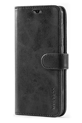 Mulbess Handyhülle für Samsung Galaxy A20 Hülle, Leder Flip Case Schutzhülle für Samsung Galaxy A20 / A30 Tasche, Schwarz