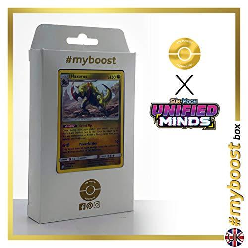 Haxorus 156/236 Holo - #myboost X Sun & Moon 11 Unified Minds - Box de 10 cartas Pokémon Inglesas