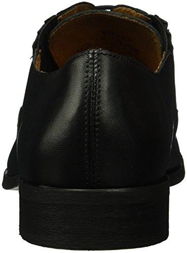 Bianco Dress Panel Shoe Jja16, Chaussures à Lacets Homme Noir - Schwarz (10/Black)