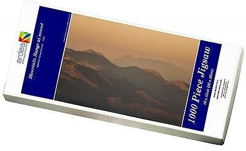 Photo Jigsaw Puzzle of Mountain Range at sunset