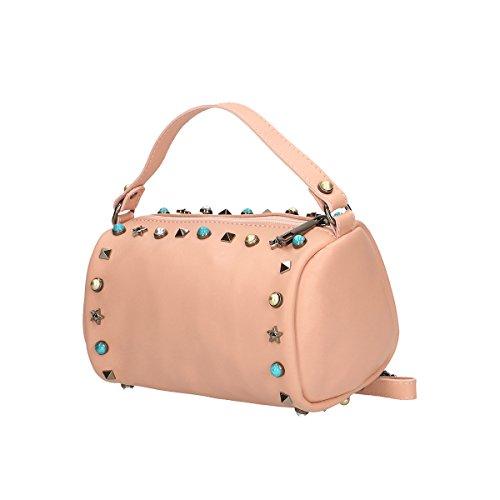 Chicca Borse Borsa a mano in pelle 18x12x12 100% Genuine Leather Rosa