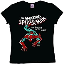 Marvel Comics - Spiderman Camiseta para mujer - Negro - Diseño original con licencia - LOGOSHIRT
