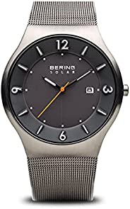 BERING Men's Analogue Solar Powered Watch with Stainless Steel Strap 14440