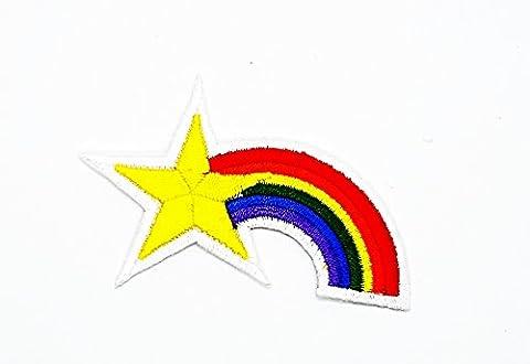 rabana Rainbow Star Cartoon Kids Kinder Cute Animal Patch für Heimwerker-Applikation Eisen auf Patch T Shirt Patch Sew Iron on gesticktes Badge Schild (Retro Roboter-kostüm)