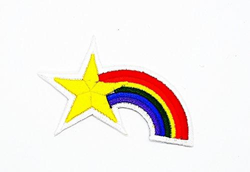 Kostüm Boy Diy Skelett (rabana Rainbow Star Cartoon Kids Kinder Cute Animal Patch für Heimwerker-Applikation Eisen auf Patch T Shirt Patch Sew Iron on gesticktes Badge Schild)