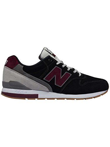 New Balance 996 Suede, Formateurs Homme Rouge (Black With Red)
