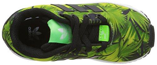 adidas Unisex Baby Zx Flux Lauflernschuhe, Blau, 22 EU Mehrfarben (Black/Green)