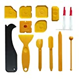 Silicone sigillante finitura Tools, spatola per sigillante Caulk levigante Profiler EX applicatore per il bagno, 7pezzi