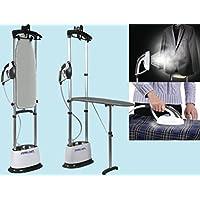 DPE a vapor Mirella para uso horizontal y vertical con tabla de planchar plegable