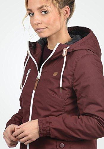DESIRES Tilda Damen Kapuzenjacke Übergangsjacke aus hochwertigem Material Wine Red (0985)