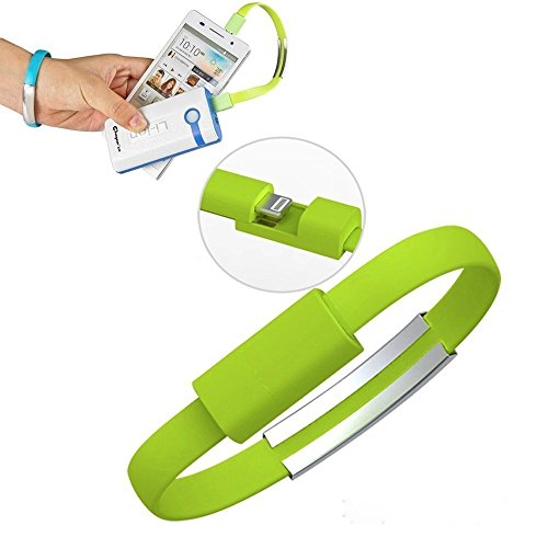 ECS Power Bank Charger Micro Usb Data Cable Band Short Flat Cable Bracelet Compatible For Ambrane Power Bank P-1310 ( Pack Of 1 Pcs - Colors May Vary )  available at amazon for Rs.220