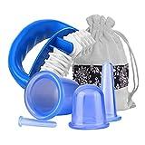 Silikon Schröpfen Cups Und Massage-Rolle - Vakuum Massagegerät mit Saugglocken - Anti Cellulite Gesicht & Körper Therapie Set für Cellulite Entferner, Behandlungs, Entfernen Toxine #1