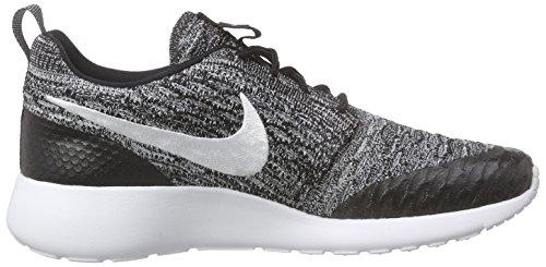 Nike Roshe One Flyknit, Chaussures de course femme Noir (Black/White/Cool Grey)