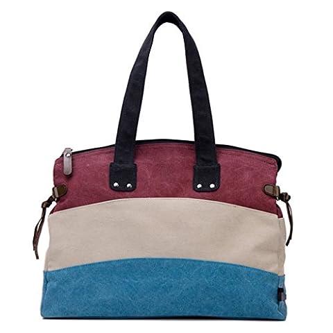 Sucastle sac Casual sac rétro sac Messenger sac de toile de sac à bandoulière sac à main Sucastle Couleur: Stripe Taille: 43x35x13cm