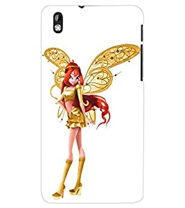 ColourCraft Angel Doll Back Case Cover for HTC DESIRE 816