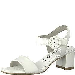 Tamaris Damen 1-1-28324-22 Riemchensandalen, Weiß (White Leather 117), 39 EU