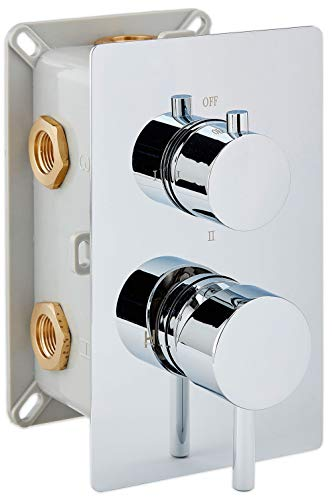 Hochwertige Unterputz-Duscharmatur UP13-01 mit 3 Wege-Umsteller - runde Griffe -
