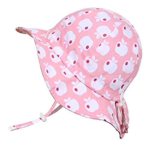 Kinder-Baumwoll-Sonnenschutzhüte 50 UPF, verstellbar, zum Aufhängen, zum Verstauen (Groß: 2-12J, Schlapphut: Rosa Apfel) (Große Rosa Schlapphut)