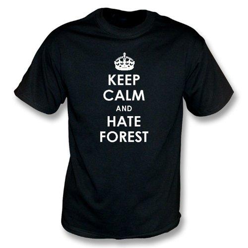 Halten Sie ruhig und hassen Sie Waldt-shirt Derby County Schwarzes