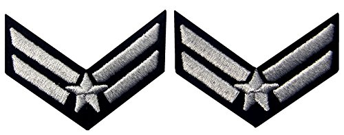 air-force-airman-chevron-rango-fashion-decorativo-emblema-bordado-hierro-en-sew-on-patch-plateado