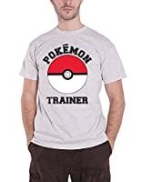 Pokemon T Shirt Trainer Poke ball catch em all Official Mens Grey XXL
