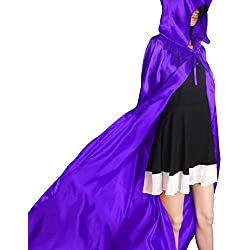 Culater® Escudo Capa con capucha Wicca Robe medieval Fiesta de Halloween del mantón (S, Púrpura)