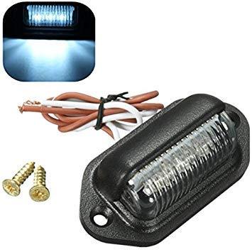 VISTARIC 10-30V 0.5W ABS 3 LED Platte Lizenz Licht Anhänger LKW LKW Boot Lampe
