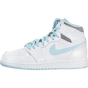Scarpa da basket Nike Kids Air 1 Retro High Gg bianca / bianca ancora blu 7 bambini US