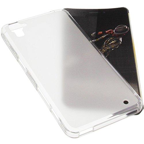foto-kontor Tasche für Hisense Rock C30 Gummi TPU Schutz Handytasche transparent weiß
