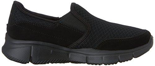 Skechers Equalizer-Persistent, Sneakers Basses Garçon Noir (Bbk)