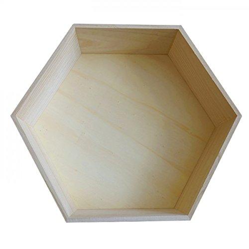 Youdoit scaffale esagonale in legno 30 x 26 x 10 cm