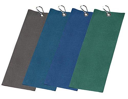 Evonell Microfaser Golftowel Golfhandtücher in 60 x 48 cm 3 Lagen Gewicht Nur 51g in 4 Farben