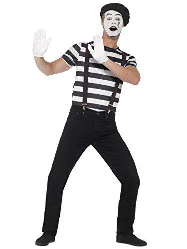 Smiffys Herren Kostüm Pantomime Clown Karneval Fasching ()