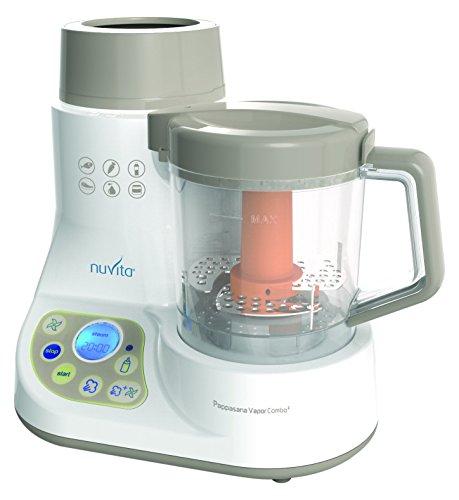 Nuvita NU-PPFP0008-1965 Mini Robot da Cucina, Cuocipappa a Vapore e Scalda Biberon, Multicolore