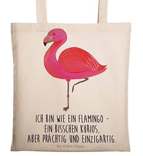 Mr. & Mrs. Panda Tragetasche Flamingo classic – Flamingo, Einzigartig, Selbstliebe, Stolz, ich, für mich, Spruch, Freundin, Freundinnen, Außenseiter, Sohn, Tochter, Geschwister Tragetasche, Tasche, Beutel, Jutetasche, Bag, Jutebeutel, Einkaufstasche, Motiv, Spruch, bedruckt, Druck