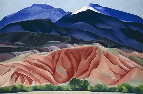 Berkin Arts Georgia O'Keeffe Giclee Papel de Arte impresión Obras de Arte Pinturas Reproducción de Carteles(Black Mesa Landscape)