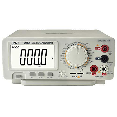 Tischmultimeter 4 1/2 True RMS-Wert Präzises Tisch-Multimeter Tester Digitale DCV/ACV/DCA/AC-Messung VC 8045 Digitaler Tester Multifunktional (Edition : US Plug)