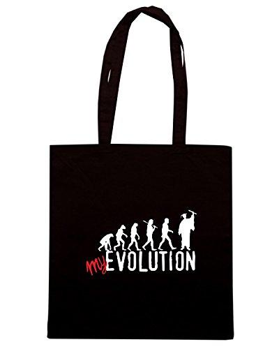 T-Shirtshock - Borsa Shopping T0369 my evoluzione laurea Nero