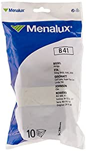 Menalux B41 10 Sacs Aspirateur Compatible pour Bissel / Rowenta