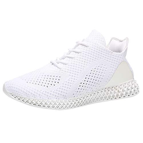 CUTUDE Damen Sommer Laufschuhe Turnschuhe Bequem Atmungsaktiv Trend Mode Paar Sportschuhe Sneaker Schnürer - Viele Farben 34 EU-44 EU (Weiß, 40 EU) -