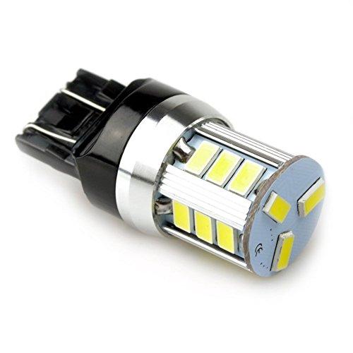 Lumiplux 7443 W21/5W W3X16Q 12V Blanc LED Ampoule de Voiture 18X5730SMD for Clignotant Feu de Freinage Lumiššre de Stationnement Feu Arriššre (Pack de 2)