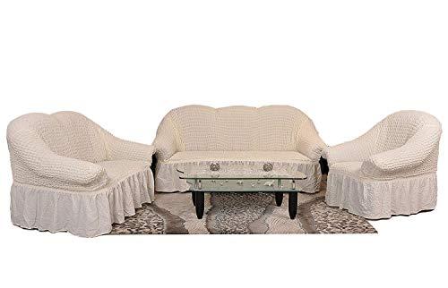 Stretch 2 Sitzer Bezug, 2 Sitzer Husse aus Baumwolle & Polyester - sehr elastischer Sofa-Überwurf