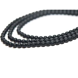 3x Onyx Stränge – facettierte Kugeln 6 mm, matt schwarz /1620g