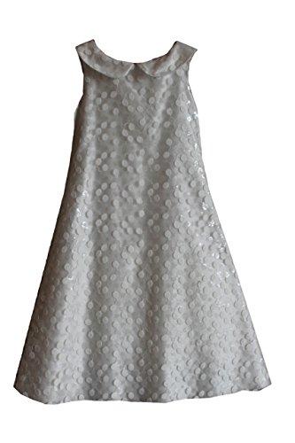 Abbigliamento bambina abito elegante artigli cerimonia comunione, avorio, 12 anni