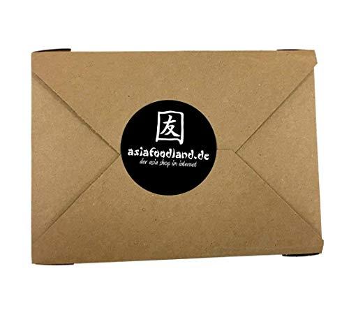 Asiafoodland - Glückskeks Set - Glückskekse im schönen Geschenkkarton, einzeln verpackt, goldene Folie, 3er Pack (3 x 15 Glückskekse)