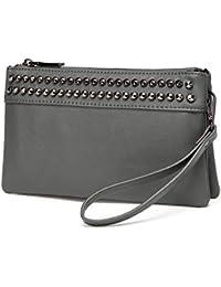 d27cdcc4d Vaschy Sac Clutches Bolsos de Mujer Pequeña Bolsos Bandolera Elegante  Crossbody Suave Cuero de PU Bolsos