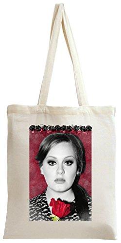 Adele Red Rose Portrait Tote Bag